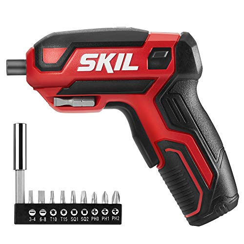 SKIL Rechargeable 4V Cordless Screwdriver, Includes 9pcs Bit, 1pc Bit Holder, USB Charging Cable – SD561801