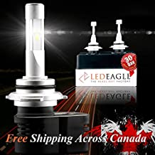 LED EAGLE – 2017 Most Innovated Super Bright Wide View SZ LED Headlight Conversion Kit – 9,900LM – 360° Adjustable Sockets – 3.5x Brighter than Halogen – Outperforms HIDs – 2 Yr Manufacturer Warranty – Free Shipping (9012, 6000K standard Conversion Kit)