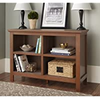 10 Spring Street Burlington Collection Bookcase, (Horizontal, Walnut)