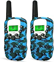 LET'S GO! DIMY Walkie Talkies for Kids, 22 Channels 3 Miles Range, Built in Flash Light and LCD Screen, Best Toys for...