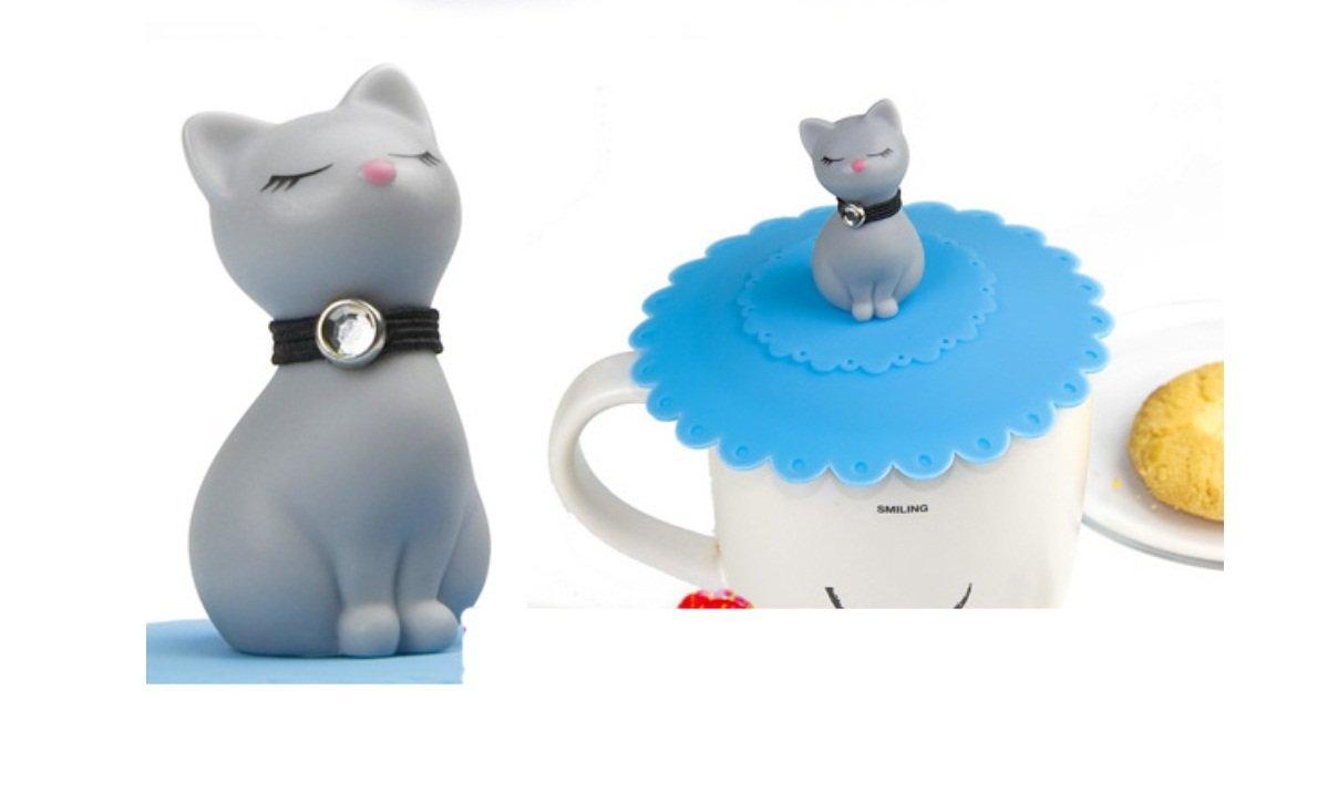Sécurité et durabilité 1PC Silicone Leak Proof étanche coupe tasse mignon chat tasse couvercle couvercle couvercle couvercle Keyi le