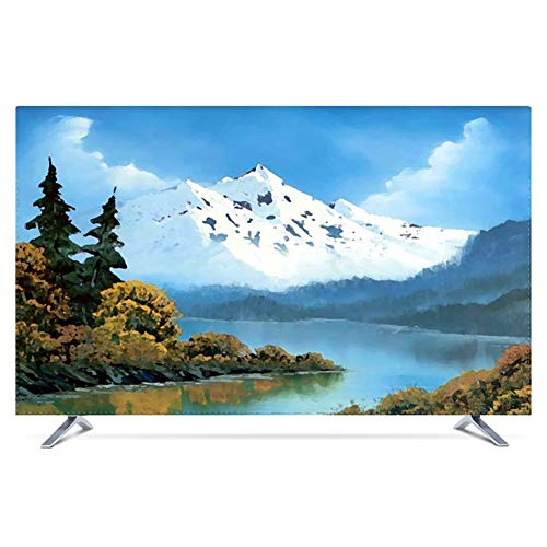 Tv cover Painting Landscape Painting Nordic LCD TV Dust Cover Cloth Cover TINGTING-protective sleeves (Color : Hailar…