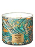 Bath and Body Works White Barn Nature Walk 3 Wick Candle 14.5 Ounce Fall 2019