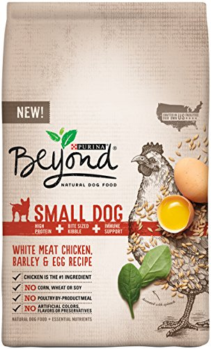 Purina Beyond Natural Dry Dog Food, Small Dog Blend, White Meat Chicken, Barley and Egg Recipe, 14.5-Pound Bag, Pack of 1