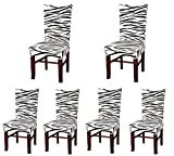 Folding Wooden Dining Room Chairs Deisy Dee Stretch Chair Cover Removable Washable for Hotel Dining Room Ceremony Chair Slipcovers Pack of 6 (B)