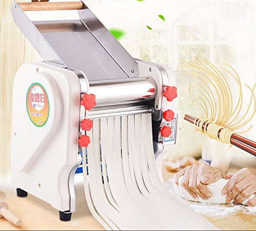 TOPCHANCES 220V Home Commercial Stainless Steel Electric Pasta Press Maker Noodle Machine (50.5 inch)