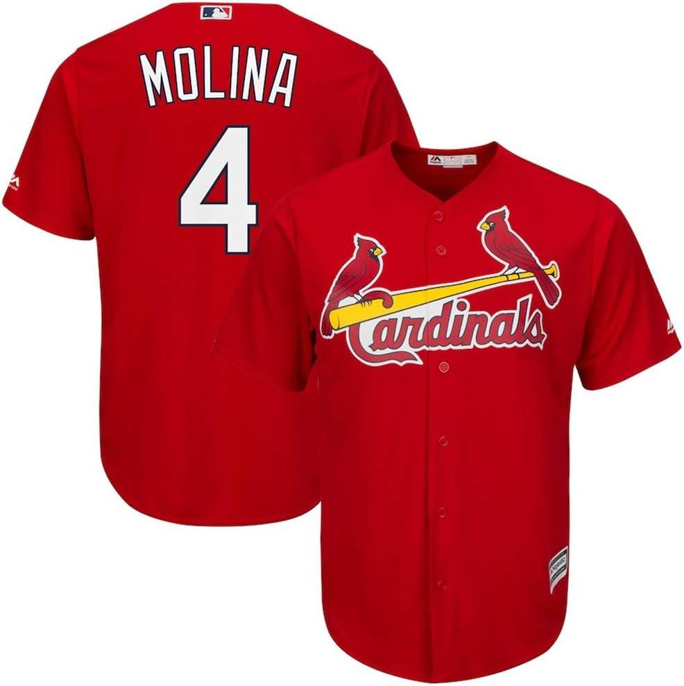 YQSB Joueur Baseball Jersey Union Saint Louis Cardinals # 4 Molina
