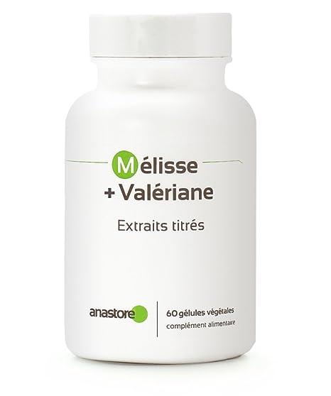 Anastore Melisa y Valeriana 400 mg - 60 Cápsulas: Amazon.es: Salud y cuidado personal
