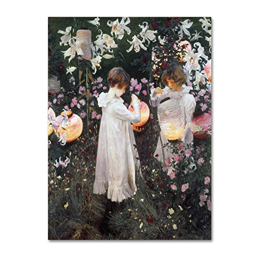 Carnation Lily Rose by John Singer Sargent, 24x32-Inch Canvas Wall Art