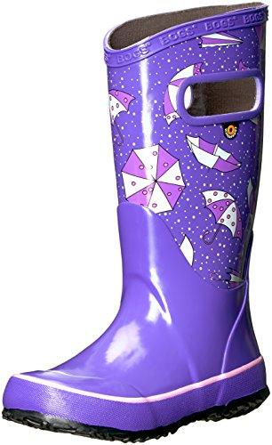 Bogs Unisex-Kids Rainboot Umbrellas Rain Boot, Violet Multi, 3 M US Little Kid