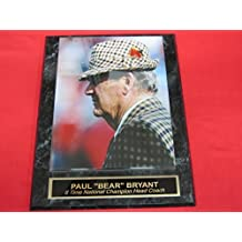 Paul Bear Bryant Alabama VINTAGE Collector Plaque #2 w/8x10 COLOR Photo