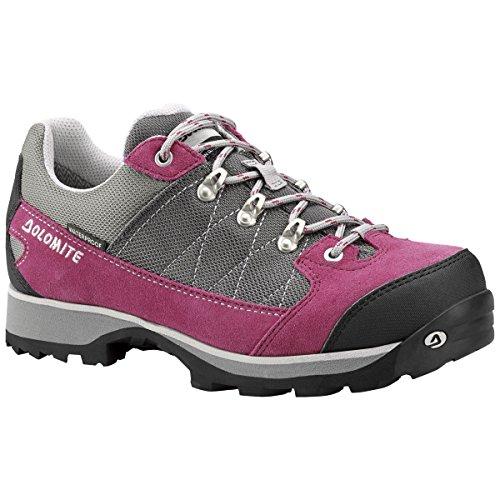 Dolomite Davos Low WP WMN GORE-TEX Schuhe Damen Echtleder-Trekkingschuhe Schnürschuhe Grau 250519-0811 008 Rosa