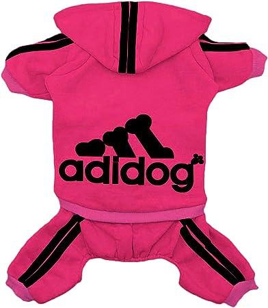 Clothes,Fleece Jumpsuit Warm Sweater,4 Legs Cotton Jacket Sweat shirt Coat for Small Dog Medium Dog Large Dog Red,XXL Rdc Pet Adidog Dog Hoodies