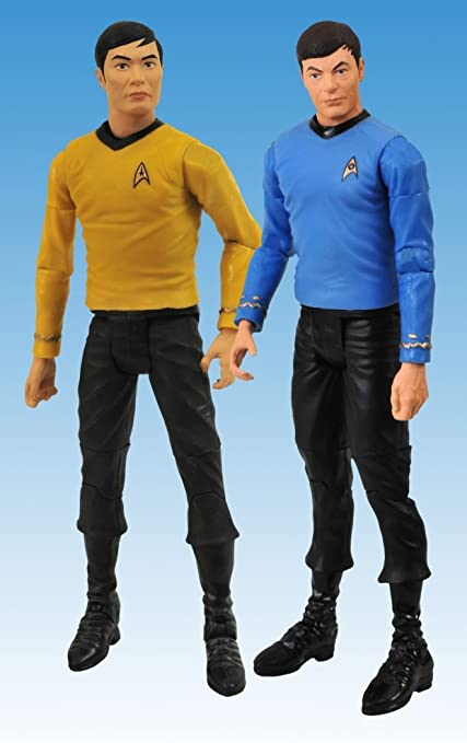 STAR TREK TOS - Pack 2 Figurines Dr McCoy and Lt. Sulu 15 cm: Amazon.es: Juguetes y juegos