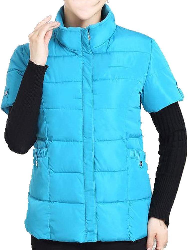 Chaqueta de mediana edad y ancianos con manga chaleco mujer otoño invierno madre media manga chaleco de algodón