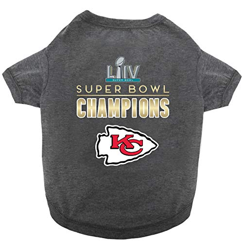 Pets First NFL Kansas City Chiefs 2020 Super Bowl LIV Championship PET TEE Shirt. Winning The 54th Super Bowl Dog TEE Shirt. Limited Edition Dog & CAT Champs Shirt. Size: X-Small