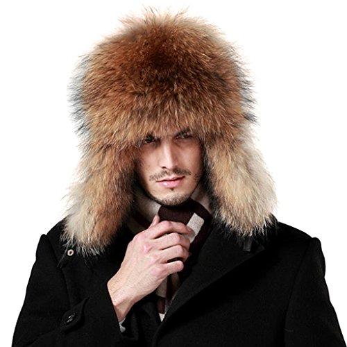 87a9971472c lethmik Mens Trapper Hat Fox Fur Russian Ushanka Hat Trooper Winter Hats -  Buy Online in UAE.