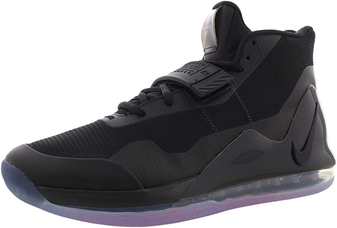 Nike Mens Air Force Max Black/Bright Crimson/Anthracite Mesh Basketball  Shoes 8.5 M US