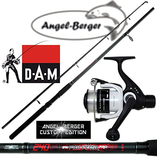 Angel Berger Angelset Steckrute und Rolle (1.80m Rute + 120 RD Rolle)