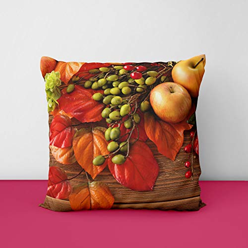 51GquSkyegL Fruit Apples Autumn Square Design Printed Cushion Cover
