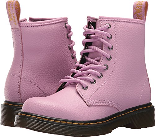 Dr. Martens Girls Delaney Pbl Juniors Lace Boot, Size: 3 M US Little Kid/2 F(M) UK Youth, Color Mallow Pink Pebble - Uk Junior Sizes