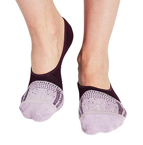 - CALIA by Carrie Underwood No Show Colorblock Training Socks 2 Pack (Plum Perfect, M)