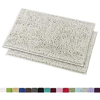Amazon Com Mayshine Chenille Bathroom Rugs Extra Soft And