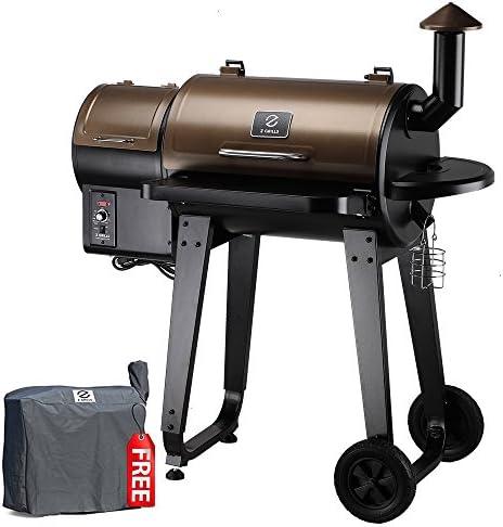 Z GRILLS ZPG-450A 6 in 1 BBQ Grill Auto Temperature Control, 450 sq Inch, Bronze Black