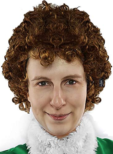 Napoleon Dynamite Family Costumes - Brown Afro Wig 70s Disco Costume