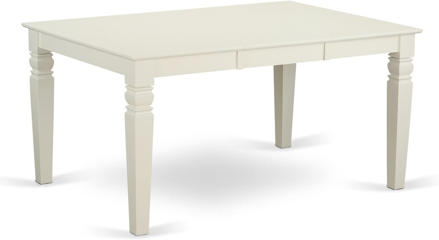 Weston Rectangular Dining Table with 18 in butterfly Leaf in Linen White