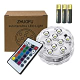 Christmas Home Decorations Lights,RGB Waterproof Mood Lights with Remote Control for Hot Tub,Vase Base,Pond,Pool,Aquarium,Party,Fish Tank,Submersible led Lights 1pc