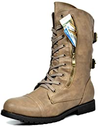 Womens Winter Faux Fur Lining Combat Boot