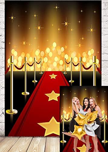 RUINI Hollywood - Movie Theme Photography Backdrop Awards Night Red Carpet Ceremony Photo Background 5x7FT
