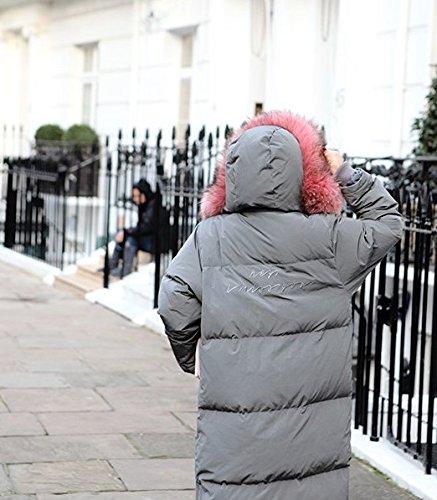Xuanku Winter Lange Haare Halsband Lange Kleidung Aus Baumwolle Frauen Lose Dicken Knien, Baumwolle Mit Kapuze Warme Jacke