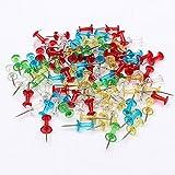Multicolore Transparent punaises assorties Carte d'affichage en liège 100pcs