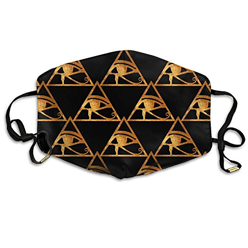 Unisex Eye Of Horus Egyptian Amun Ra Ancient Egypt Mouth Masks Face Mask Breath Healthy Safety Face Mask For Women And (Portugal Face)