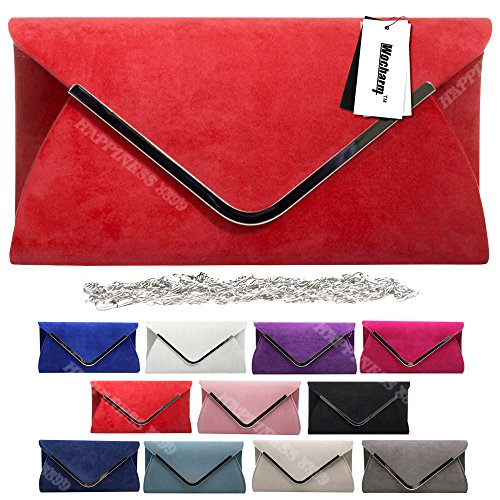 Suede Evening White Hand Trim Handbag Bag Silver Bag Women's Celebrity Style Party Wedding Ladies Prom Wocharm Clutch Designer Faux nxqafWBI78
