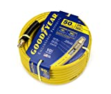 GOODYEAR 46545 3/8-Inch by 50-Feet 300 PSI Rubber Air Hose With 1/4-Inch MNPT Ends and Bend Restrictors