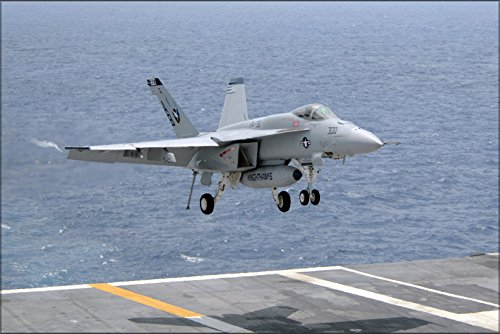 Fa 18e Super Hornet (24x36 Poster . Fa-18E Super Hornet F-18 (Vfa) 316 Uss Carl Vinson)