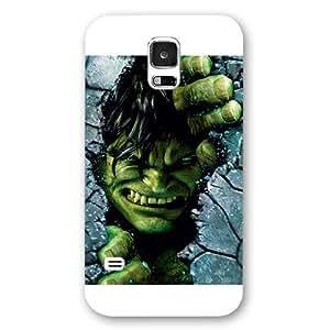 UniqueBox Customized Marvel Series Case for Samsung Galaxy S5, Marvel Comic Hero Hulk Samsung Galaxy S5 Case, Only Fit for Samsung Galaxy S5 (White Frosted Case)