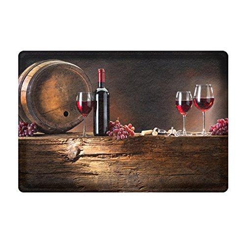 DKISEE Indoor Outdoor Entrance Rug Floor Mat Modern Goods Pattern Doormat, - Noten Dries Van Glasses