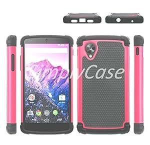 SimplyCase Hot Pink Hybrid Rugged Rubber Matte Hard Case For LG Nexus 5