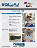 Dental Face Shield DL, 10 Pcs - Fits Loupes and
