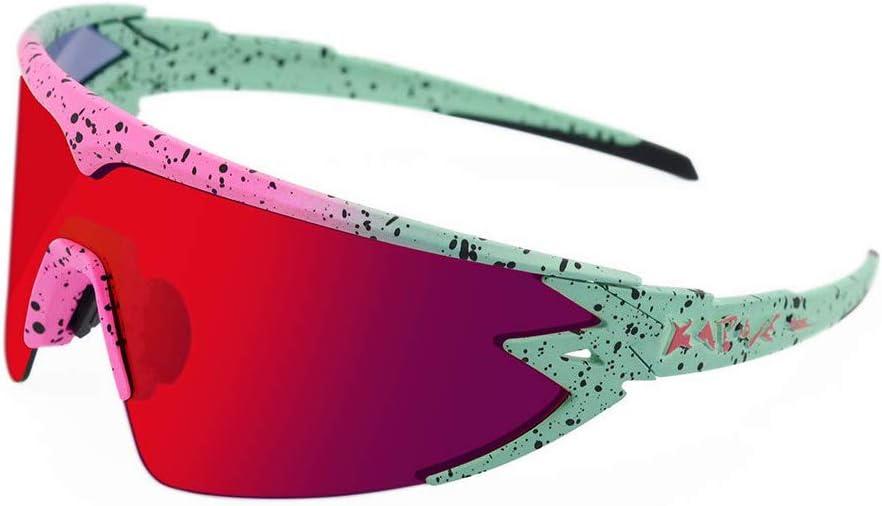 KAPVOE Cycling Glasses Sports Sunglasses Driving Fishing Running Baseball Glasses