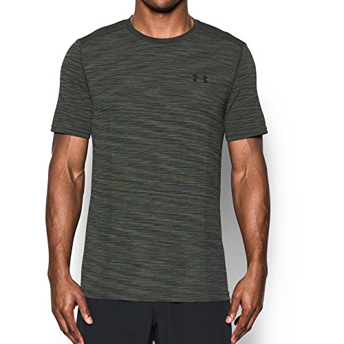 Under Armour Men's Threadborne Seamless T-Shirt, Downtown Green /Black, X-Large (Athletic Mens Shirt)