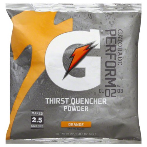 (Gatorade Powder Pouch, Orange, 21-Ounce (Pack of)