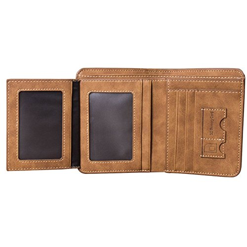 Clutch Wallet Mens Leather Bifold Card Holder for men wallets - 7