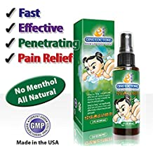 Ging Loc Tong® Premium Sports Spray, Quick, Effective, Penetrating, 100% Herbal remedy for Pain Relief & Injury Recovery (Chronic Back Pain, Arthritis, Tennis Elbow, Carpal Tunnel, Sprain Ankles, Muscle Fatigue, Old Injuries), menthol & camphor free, (2 Fl Oz)