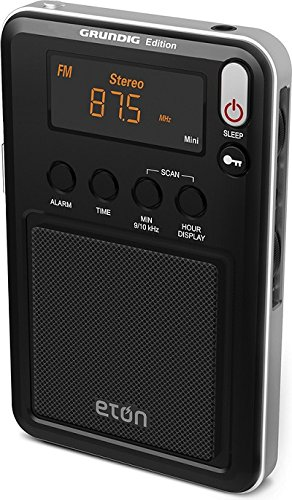 Eton Mini Compact AM/FM/Shortwave Radio, Black, NGWMINIB