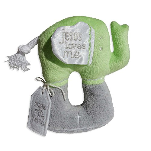 Enesco Grow in Grace Plush Elephant, Green, 5.25